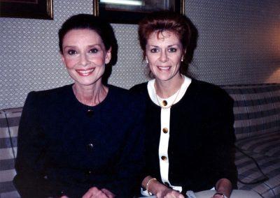 Karen with Audrey Hepburn