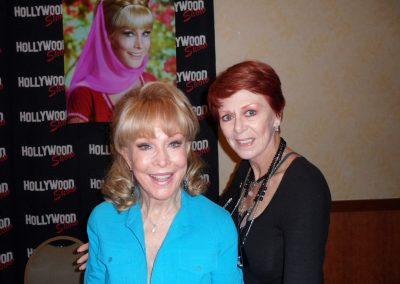 Karen with Barbara Eden
