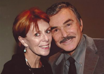 Karen with Burt Reynolds