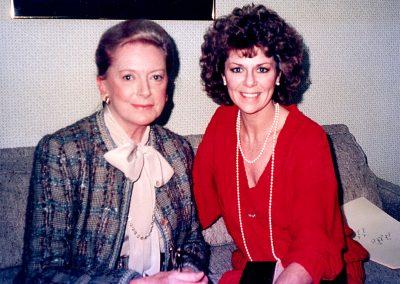 Karen with Deborah Kerr