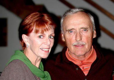 Karen with Dennis Hopper