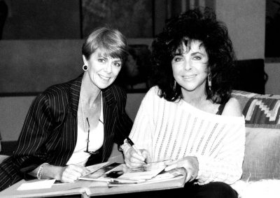 Karen with Elizabeth Taylor