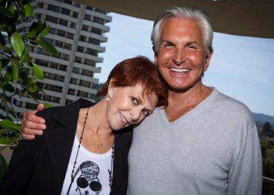 Karen with George Hamilton