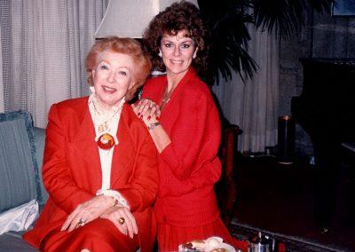 Karen with Greer Garson