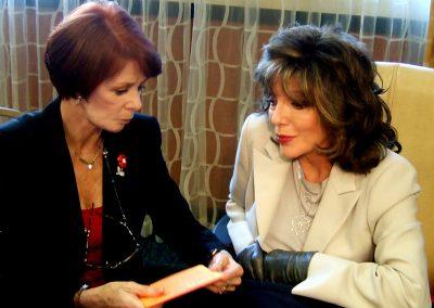 Karen with Joan Collins
