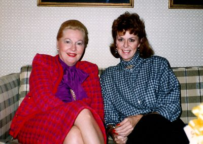 Karen with Joan Fontaine