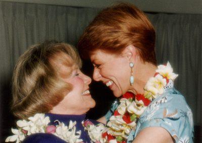 Karen with June Allyson