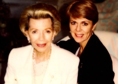 Karen with Lana Turner