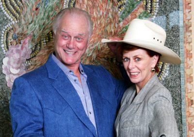 Karen with Larry Hagman