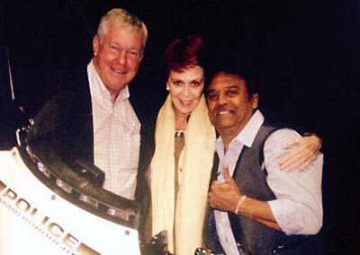 Karen with Larry Wilcox & Erik Estrada - CHIPS