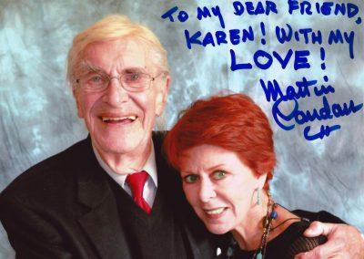 Karen with Martin Landau