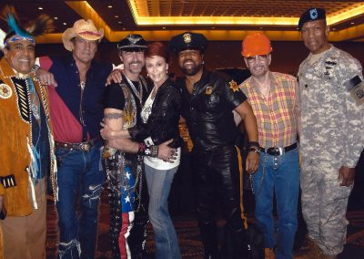 Karen with The Village People