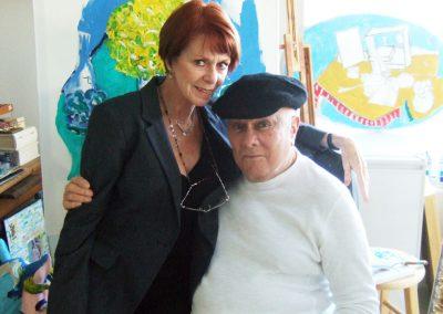 Karen with Tony Curtis