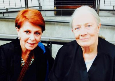 Karen with Vanessa Redgrave